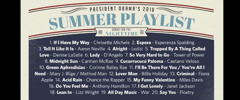 obama  playlist 2